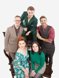 The cast of A SPOONFUL OF SHERMAN photo by Nick Rutter