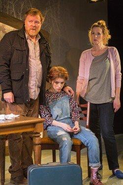 Again. Chris Larkin (Tom), Rosie Day (Izzy) & Natasha Little (Louise). Credit - Zute Lightfoot