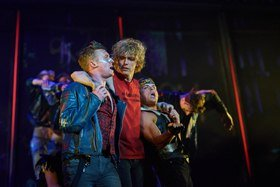 Patrick Sullivan as Blake, Andrew Polec as Strat & Giovanni Spano as Ledoux in BAT OUT OF HELL credit Specular