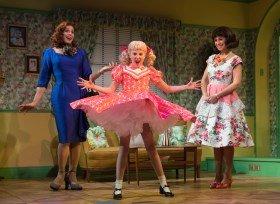 Jason Gardiner (Sylvia St Croix), Anya Evans (Tina Denmark), Kim Maresca (Judy Denmark). by Alastair Muir