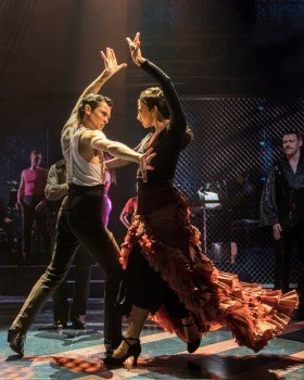 Jonny Labey and Zizi Strallen in Strictly Ballroom The Musical. Photo by Johan Persson