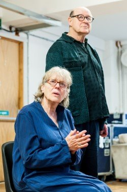 Not Talking at Arcola Theatre. Kika Markham (Lucy), David Horovitch (James) photo credit Lidia Crisafulli