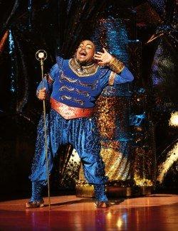 Aladdin Prince Edward Theatre: Trevor Dion Nicholas Genie - Photographer Deen van Meer © Disney