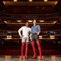 Simon-Anthony Rhoden and Oliver Tompsett in Kinky Boots. Photo by Helen Maybanks.