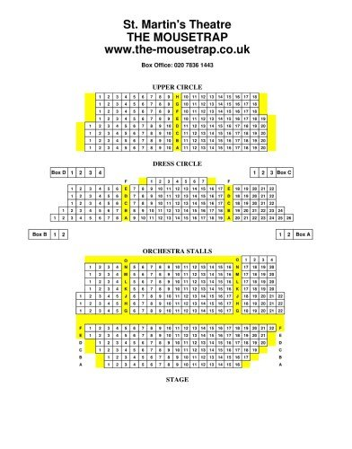 The Mousetrap Seating Plan