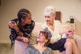 L-R Maisie Richardson-Sellers (Laurie), Debbie Chazen (Suzanne) & Anita Dobson (Eleanor) - 3Women at Trafalgar Studios (c) Charlie Round-Turner