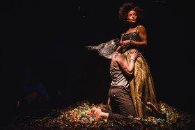 Ingvild Lakou as Titania and David Clayton as Bottom