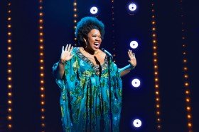 Moya Angela in Dreamgirls at the Savoy Theatre. Credit Dewynters