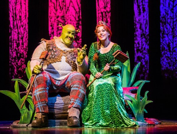Steffan Harri and Amelia Lily in Shrek the Musical UK and Ireland tour 2018. Credit Tristram Kenton