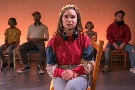 Why Is The Sky Blue at Southwark Playhouse. Millie Thew. Photo by Marc Brenner