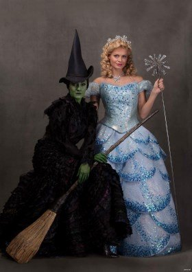 Wicked Alice Fearn (Elphaba) and Sophie Evans (Glinda) Photo by Darren Bell