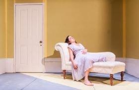 Gemma Yates-Round in The Yellow Wallpaper at Omnibus Theatre, London. Photo: Lidia Crisafulli