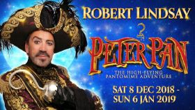 Robert Lindsay stars as Captain Hook in Peter Pan