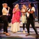L-R Jodie Jacobs (Rachel), Janet Fullerlove (Joy), Kelly Sweeney (Tamara) & Melanie Marshall (Lou) - Unexpected Joy at Southwark Parkhouse (c) Pamela Raith Photography