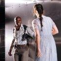 Ery Nzaramba (Othello) and Kirsten Foster (Desdemona) in othellomacbeth. Photo by Helen Murray