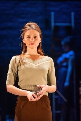 Jessica Barden in Pinter Four. Photo credit Marc Brenner