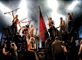 LES MISERABLES. Barricades Photo by Michael Le Poer Trench