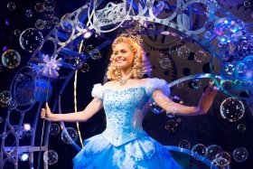 Sophie Evans (Glinda) in Wicked at The Apollo Victoria Theatre Photo Matt Crocket.