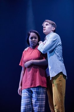 Alice Vilanculo and Christopher Williams in NYT's - Macbeth at the Garrick Theatre. Credit The Other Richard.