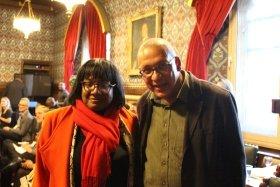 Diane Abbott and Gabriel Gbadamosi (writer), credit Ankesh Shah.