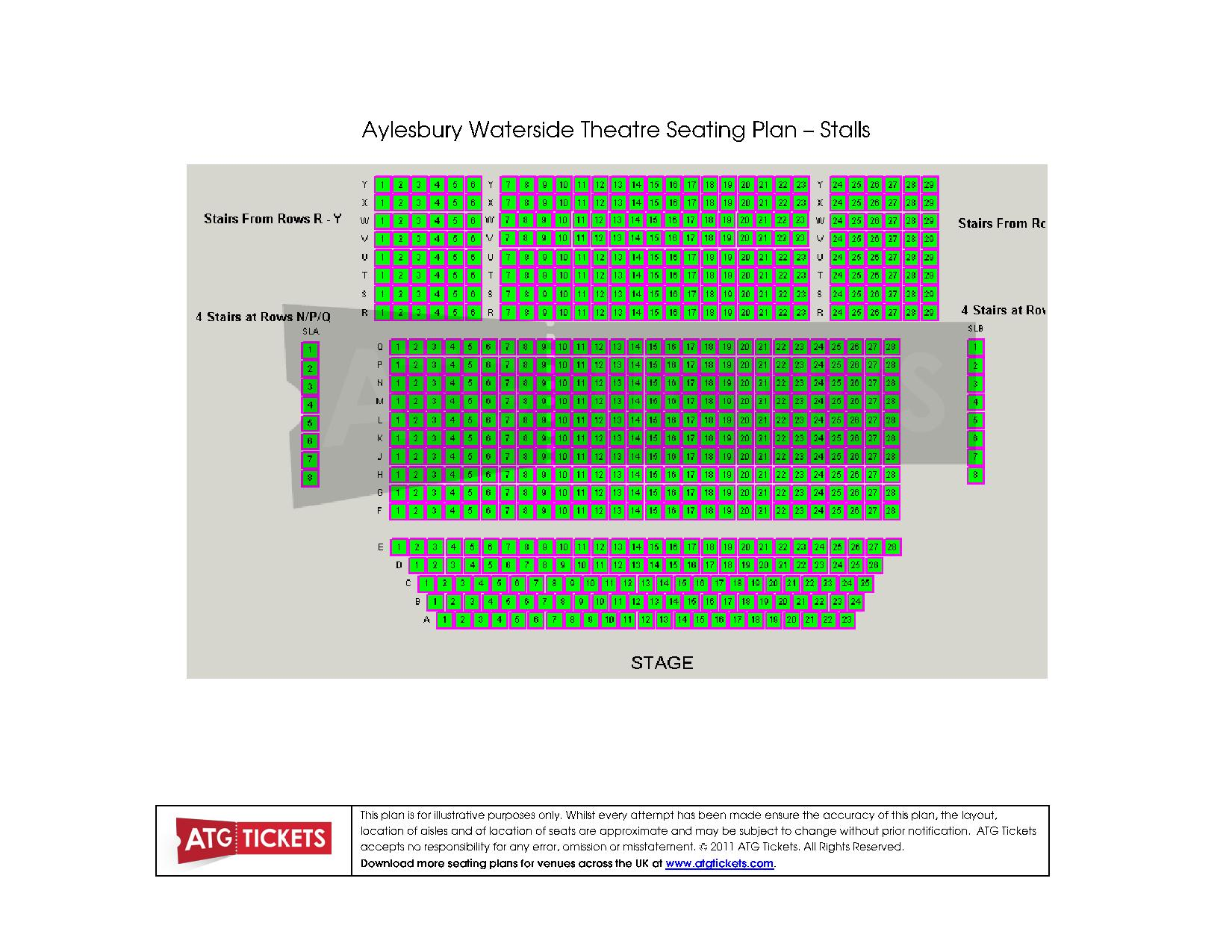 Aylesbury Theatre Seating Plan Stalls