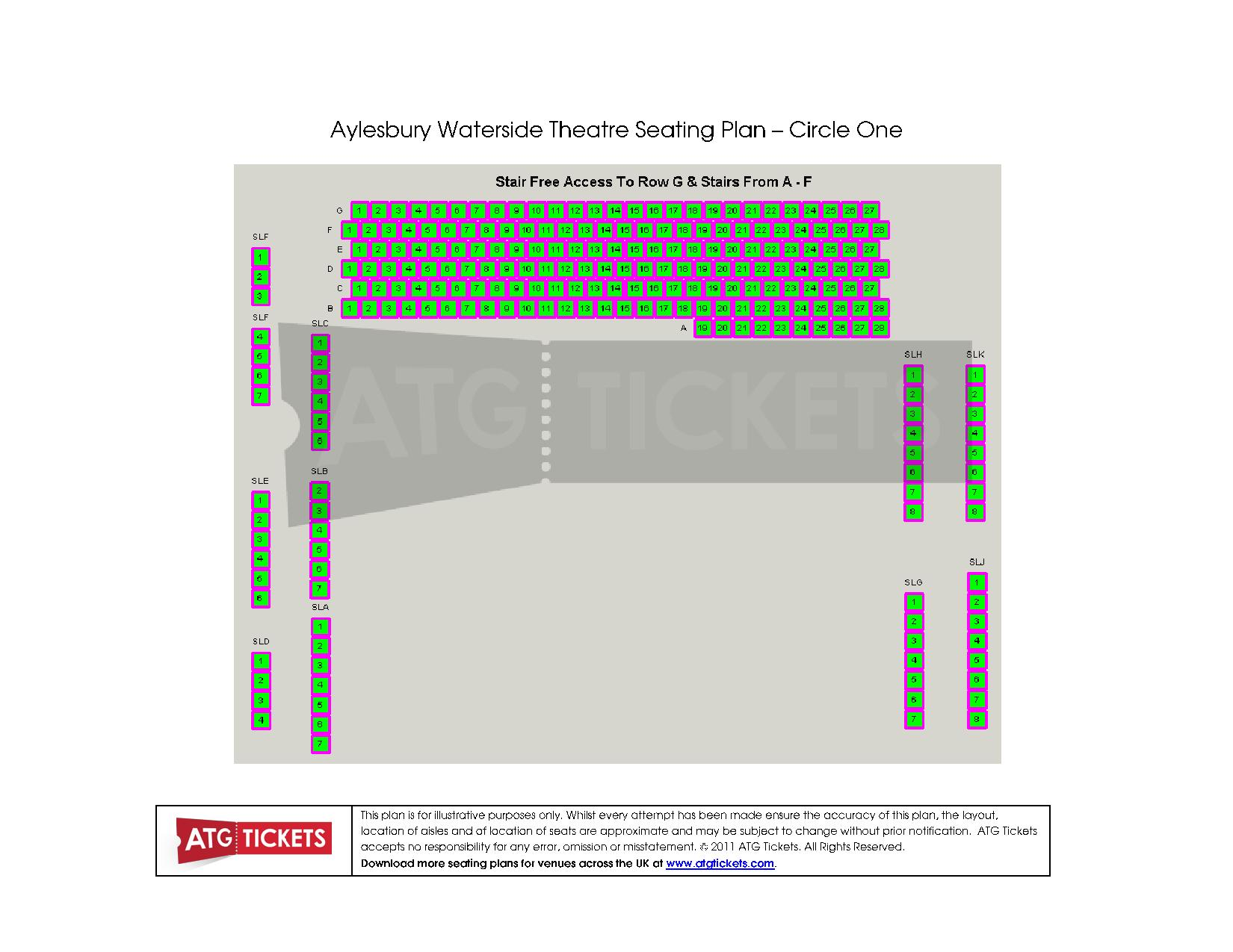 Aylesbury Theatre Seating Plan Circle