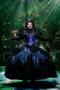 Josephine Melville (Mauditious Le Vicious) in Sleeping Beauty at Theatre Royal Stratford East. Photo by Scott Rylander.
