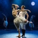 Matthew Bourne's SWAN LAKE. Matthew Ball 'The Swan' and Liam Mower 'The Prince'. Photo by Johan Persson.