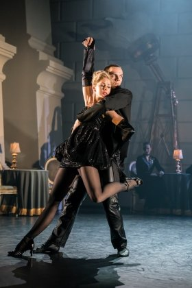 Matthew Bourne's SWAN LAKE. Will Bozier 'The Stranger' and Freya Field 'The Girlfriend'. Photo by Johan Persson.