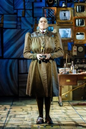 Elliot Harper as Miss Trunchbull in the Royal Shakespeare Companys Matilda The Musical