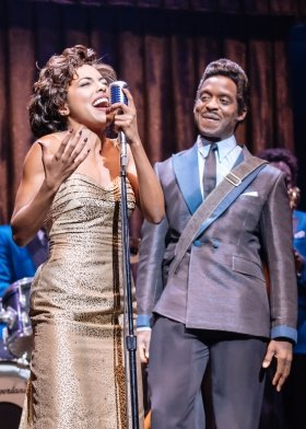 l-r Adrienne Warren (Tina Turner) and Kobna Holdbrook-Smith (Ike Turner). Photo by Manuel Harlan.