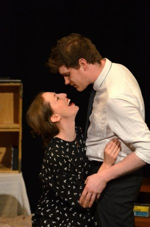 Lucy Beresford-Knox and Jake Botterell in Cheating Death - photographer credit Sophie Wilson.