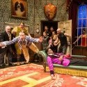 The cast of The Play That Goes Wrong at the Duchess Theatre. Photo credit Helen Murray.