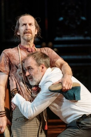 Denis O'Hare, Kevin Doyle in Tartuffe by Molière in a new version by John Donnelly. Image by Manuel Harlan.
