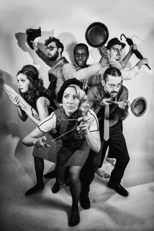 The cast of Night of the Living Dead Live at Pleasance London. Credit Claire Bilyard