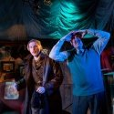 Charles Aitken (Younger Billy), Oliver Beamish (Older Billy). Credit Nick Rutter.