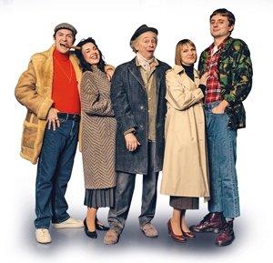 Tom Bennett (Del Boy), Dianne Pilkington (Raquel), Paul Whitehouse (Grandad), Pippa Duffy (Cassandra), Ryan Hutton (Rodney).