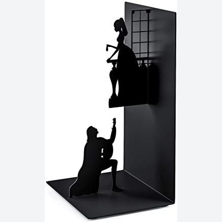 Balvi - Romeo & Juliet metal bookend. Inspired by the work of Shakespear