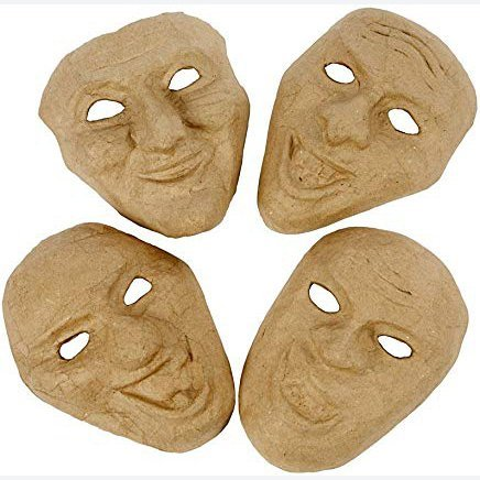 4 Theatre Emotion Paper Mache Masks | Masks to Decorate