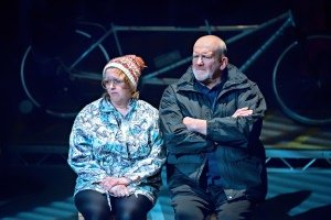 Jane Thornton (Carol) and John Godber (Don).