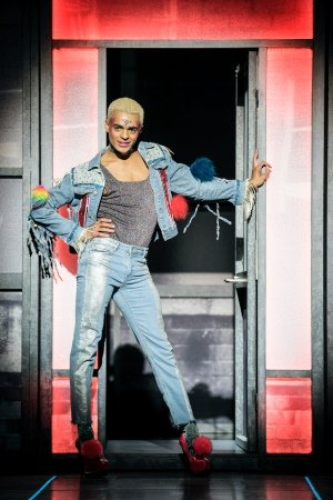 Layton Williams (Jamie) in Everybody's Talking About Jamie at the Apollo Theatre. Photo credit Johan Perrson.