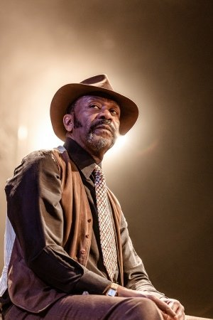 Lenny Henry (Elmore) in King Hedley II at Theatre Royal Stratford East. Photo by Richard Davenport