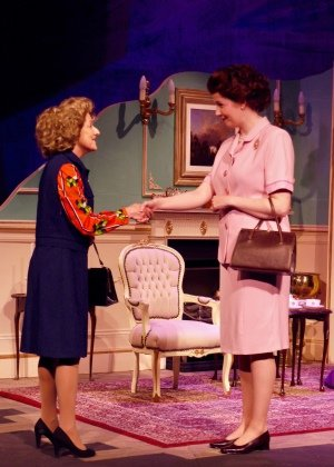 Handbagged: Margaret Thatcher (Helen Geldert) and HM The Queen (Heather Stockwell)