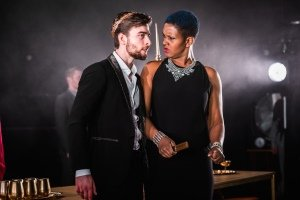 Jamie O'Neill as Herod, Annemarie Anang as Herodias. Shot by Adam Trigg.