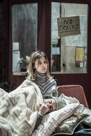 Kevork Malikyan (Sava) and Natalia Tena (Katia) in Europe at the Donmar Warehouse. Photo Marc-Brenner.