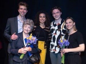 Jamie Bogyo, Julia McKenzie, Paige Fenlon, Stuart Thompson, Joanna Riding. Credit David Ovenden.