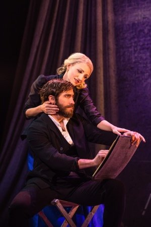 Annaleigh Ashford and Jake Gyllenhaal in Sunday in the Park with George Photo Credit Matthew Murphy.