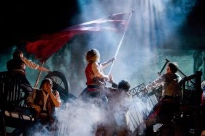 LES MISERABLES. Barricades - Photo by Michael Le Poer Trench. Copyright CML