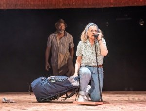 Patrice Naiambana and Sinead Cusack in Tree at Manchester International Festival at Young Vic - Credit Marc Brenner