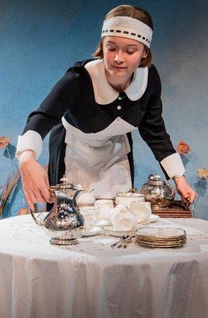 Aoife Kennan (Gertrude) in For Services Rendered - Jermyn Street Theatre. Photo credit - Robert Workman